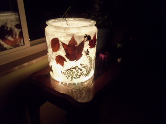 27 Last Minute DIY Gift Ideas - Autumn Glass from Simple Life Mom