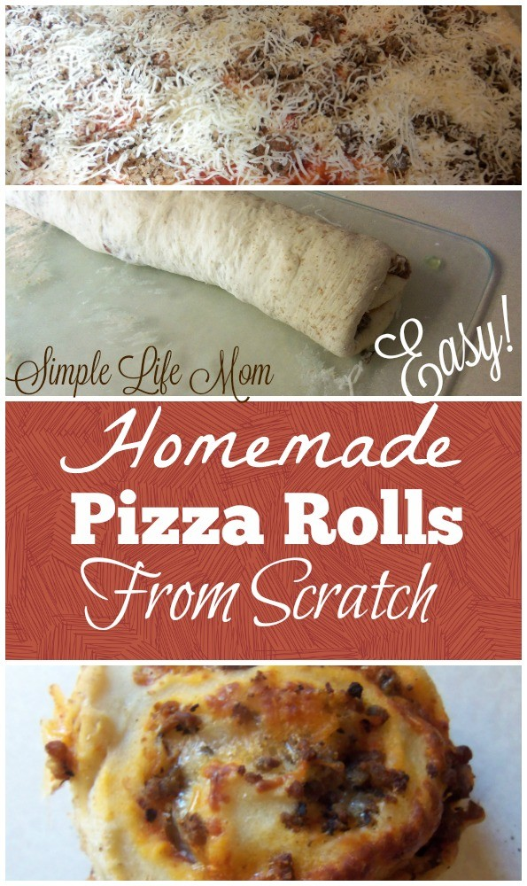 Homemade Pizza Rolls from Scratch from Simple Life Mom