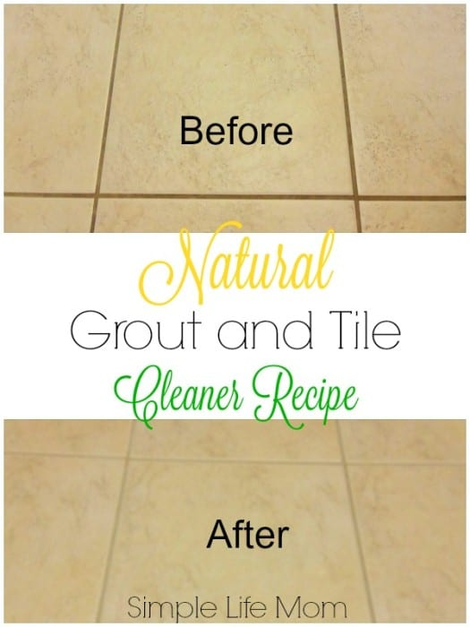 9 Natural Cleaning Recipes for Spring Cleaning - Natural Grout and Tile Cleaner Recipe from Simple Life Mom
