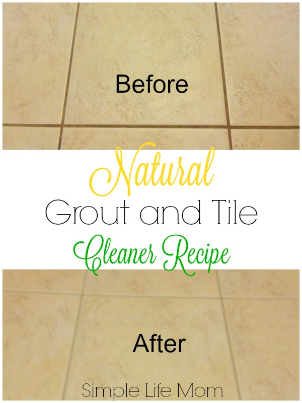 Natural Grout and Tile Cleaner Recipe from Simple Life Mom