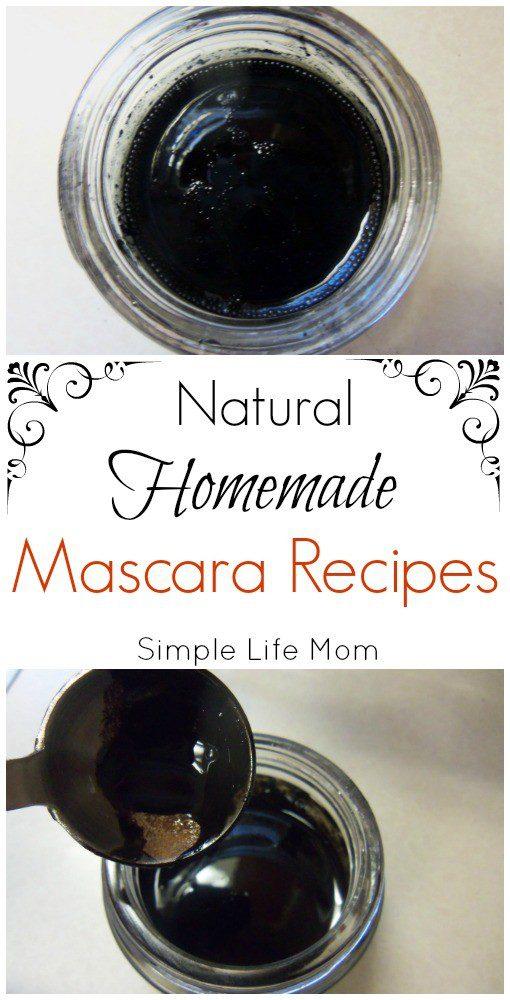 Natural Homemade Mascara Recipes from Simple Life Mom