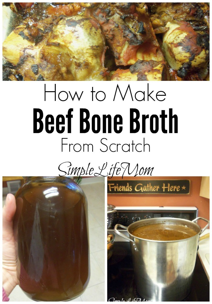 How to Make Beef Bone Broth. Learn about the amazing health benefits and how to make bone broth from scratch from Simple Life Mom