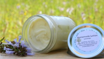 Homemade Lotion by Simple Life Mom