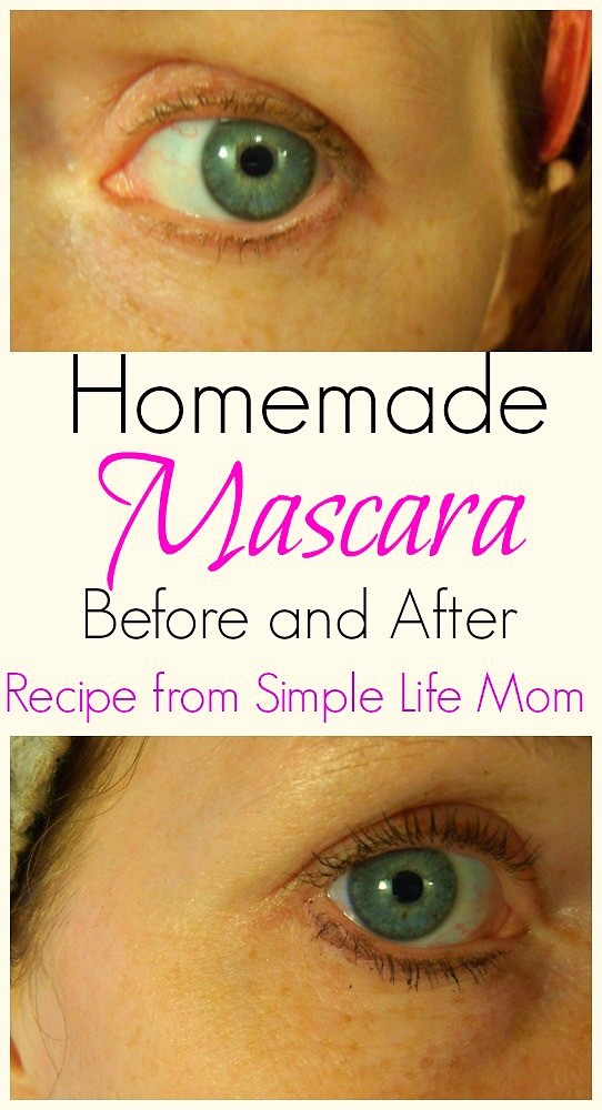 Before and after shot with homemade mascara simple life mom for Simple living mom