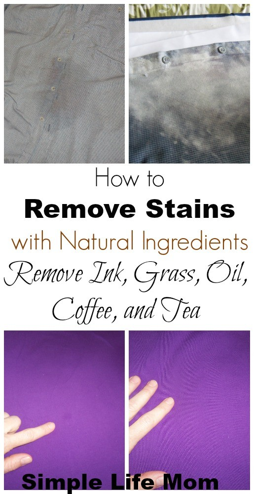 How to Remove Stains with Natural Ingredients from Simple Life Mom