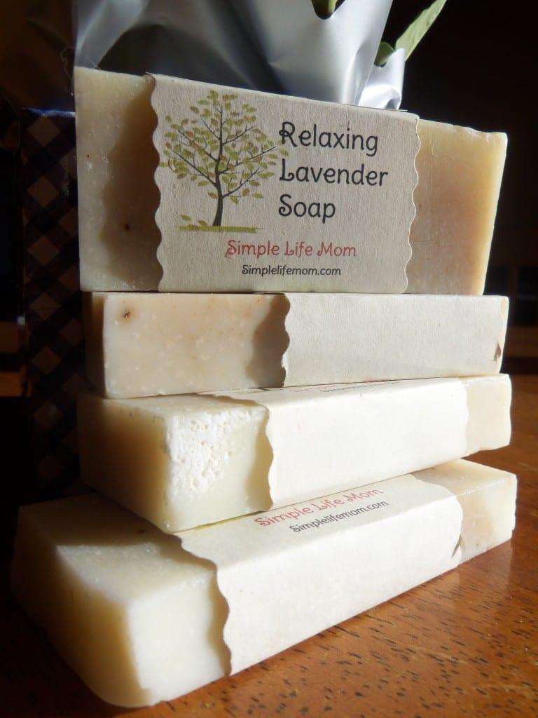 Homemade Relaxing Lavender Soap