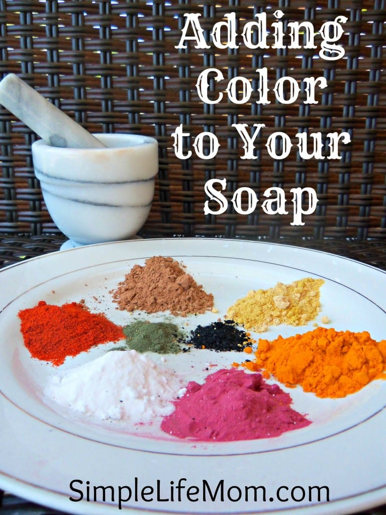 Adding Color to Homemade Soap | Simple Life Mom