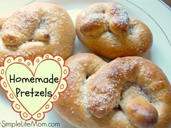 Whole Wheat Homemade Pretzels
