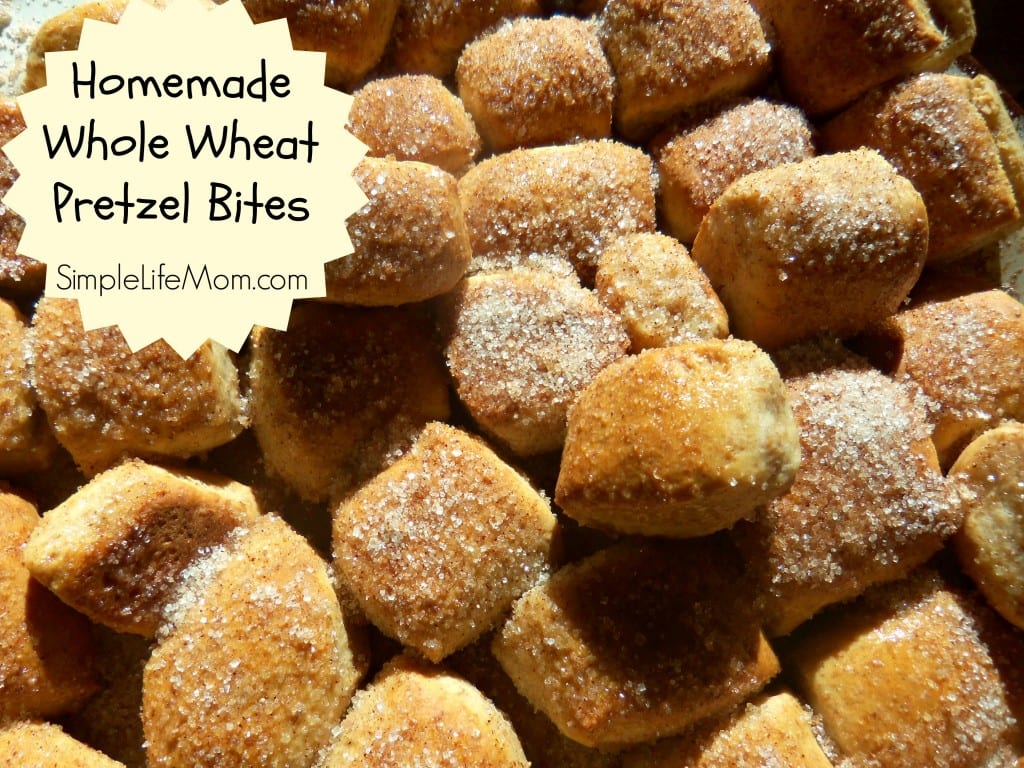 Homemade Whole Wheat Pretzel Bites