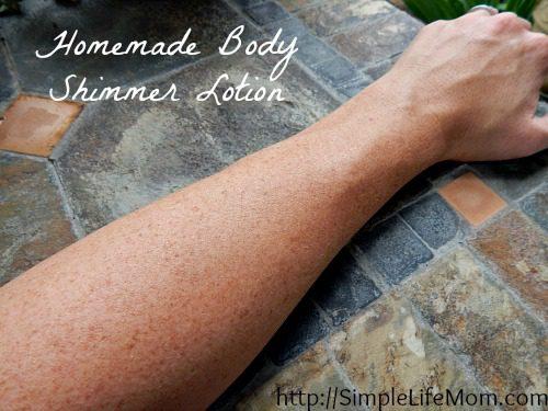 Homemade Body Shimmer Lotion