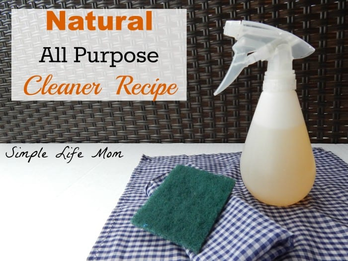 9 Natural Cleaning Recipes - Natural All Purpose Cleaner Recipe made with essential oils by Simple Life Mom