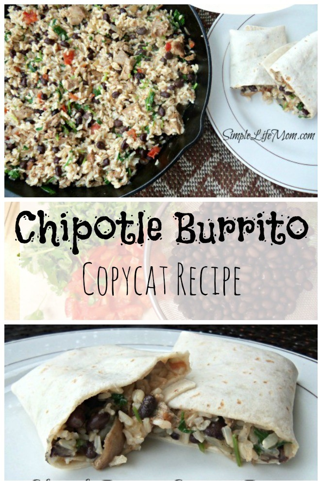 Chipotle Burrito Copycat Recipe from Simple Life Mom