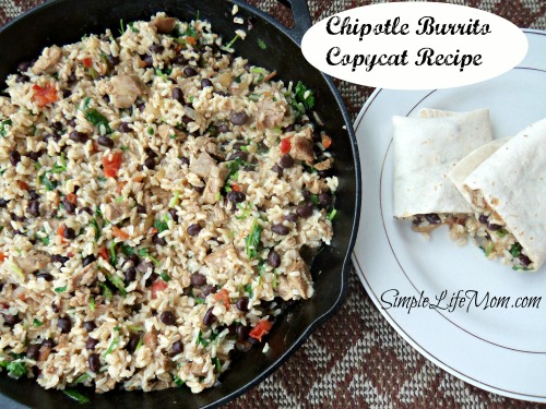 Chipotle Burrito Copycat Recipe - great Mexican flavor at home