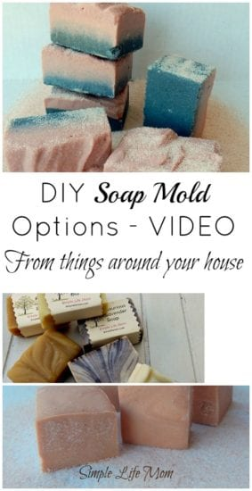 DIY Soap Mold Options from things around your house by Simple Life Mom