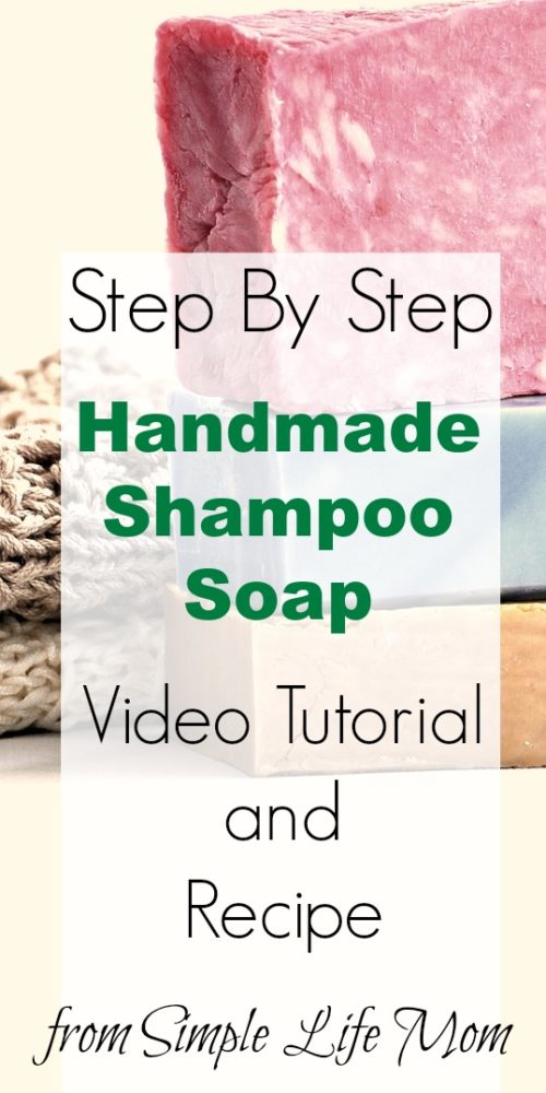 How to Make Shampoo Soap Step by Step Video | Simple Life Mom
