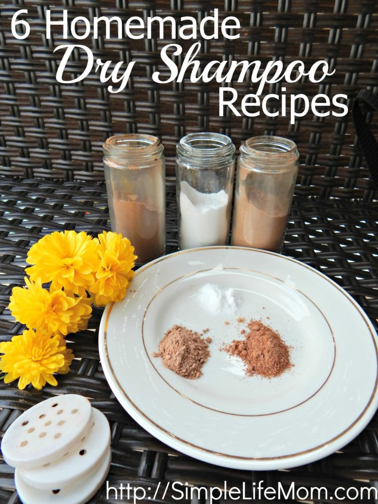 6 homemade dry shampoo recipes -simple life mom