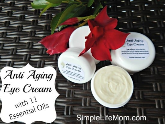 27 Last Minute DIY Gift Ideas - Anti Aging Eye Cream with 11 Essential Oils from Simple Life Mom