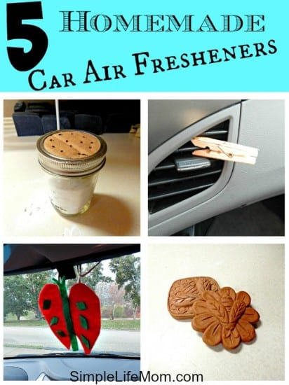 27 Last Minute DIY Gift Ideas - 5 Homemade Car Air Fresheners from SImple Life Mom