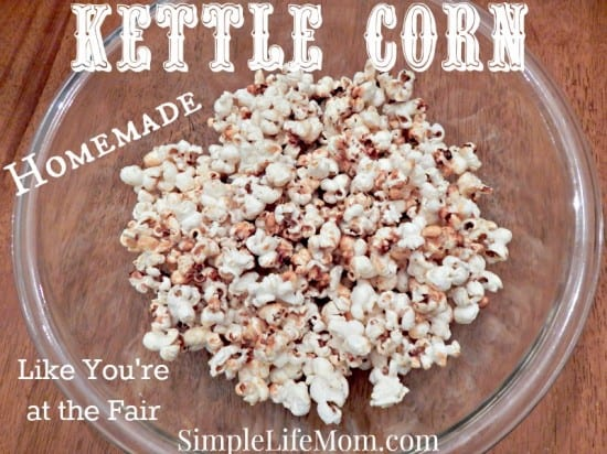 Homemade Kettle Corn - like you're at the fair