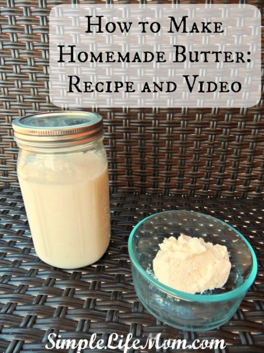 How to Make Homemade Butter Recipe and Video4