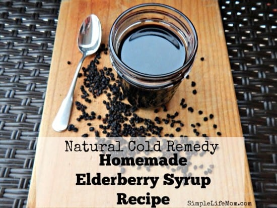 21 Handmade Christmas Gifts - Natural Cold Remedy Homemade Elderberry Syrup Recipe