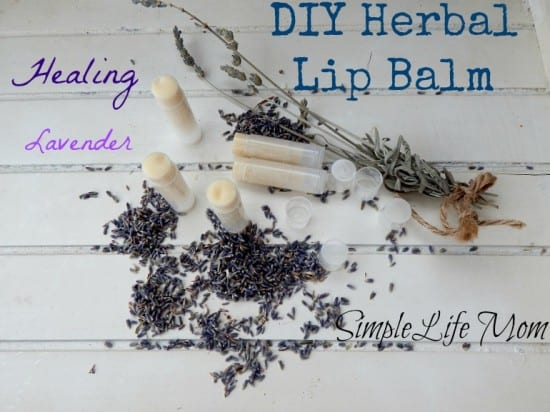 DIY Herbal Lip Balm - A healing recipe from @SimpleLifeMom