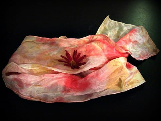 27 Last Minute DIY Gift Ideas - Smashed Flower Scarf from the Untrained Housewife