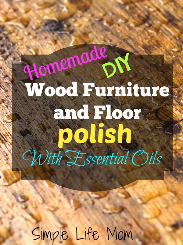 Homemade Natural Wood Furniture And Floor Polish Simple