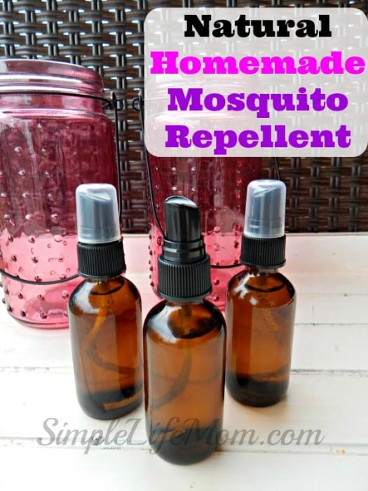 Natural Homemade Mosquito Repellent made with essential oils. All Natural and organic. Ok for spraying on skin. Great for use at BBQs, camping, or on your garden.