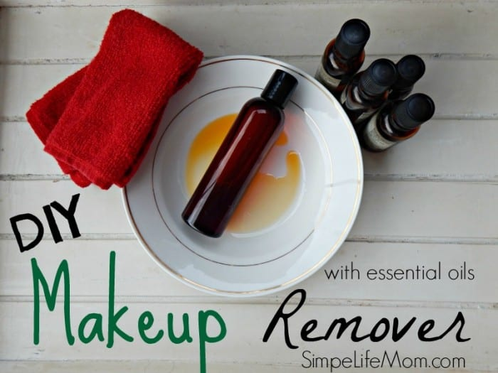 DIY Makeup Remover Recipe with essential oils from Simple Life Mom