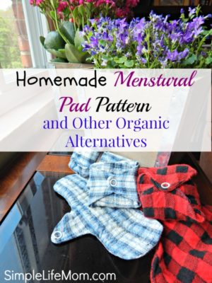 Homemade Menstrual Pad Pattern and Organic Alternatives from Simple Life Mom