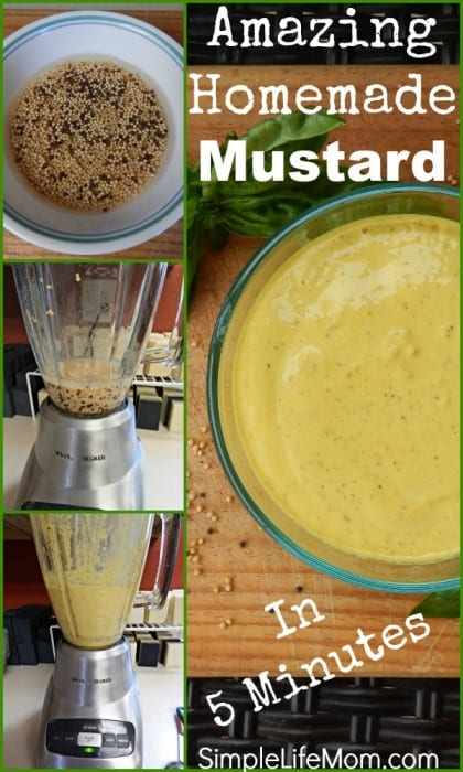 homemade mustard recipe simple life mom