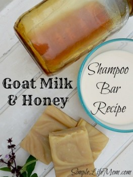 24 Hour Oil Change >> Goat Milk and Honey Shampoo Soap Recipe | Simple Life Mom