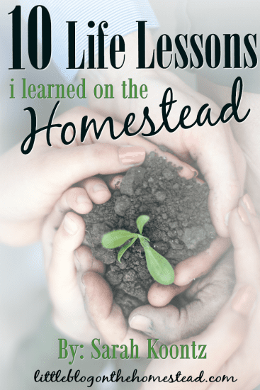 Featured on the Homestead Blog Hop -10-Life-Lessons-I-learned-on-the-Homestead