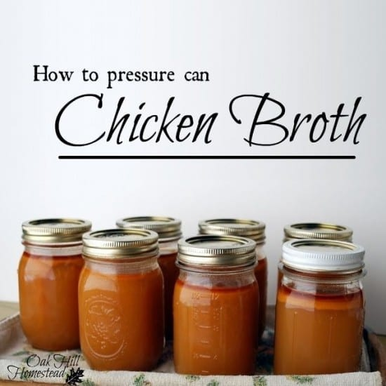 Featured on the Homestead Blog Hop -Pressure Canning Broth