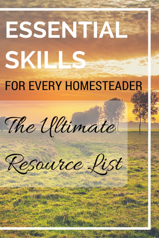 Featured on the Homestead blog Hop - Essential Skills for Every Homesteader