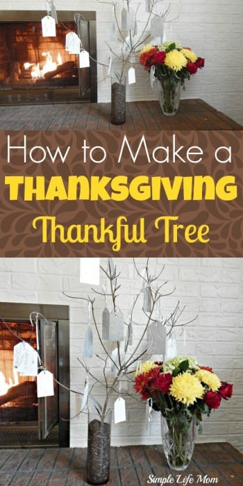 How to Make a Thanksgiving Thankful Tree - a simple, easy, frugal craft from Simple Life Mom