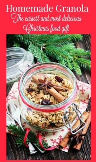 Featured on the Homestead Blog Hop - Christmas-food-gift-granola