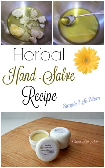 21 Handmade Christmas Gifts - Healing Hand Salve Recipe with calendula oil from Simple Life Mom