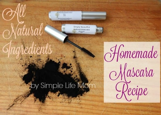 Natural Beauty Product Recipes - Homemade Mascara Recipe from Simple Life Mom with All Natural Ingredients