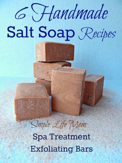6 Handmade Salt Soap Recipes from Simple Life Mom