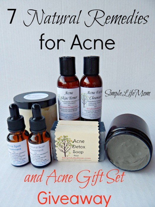 Scroll down for the HUGE Acne Gift Set Giveaway @simplelifemom #naturalskincare