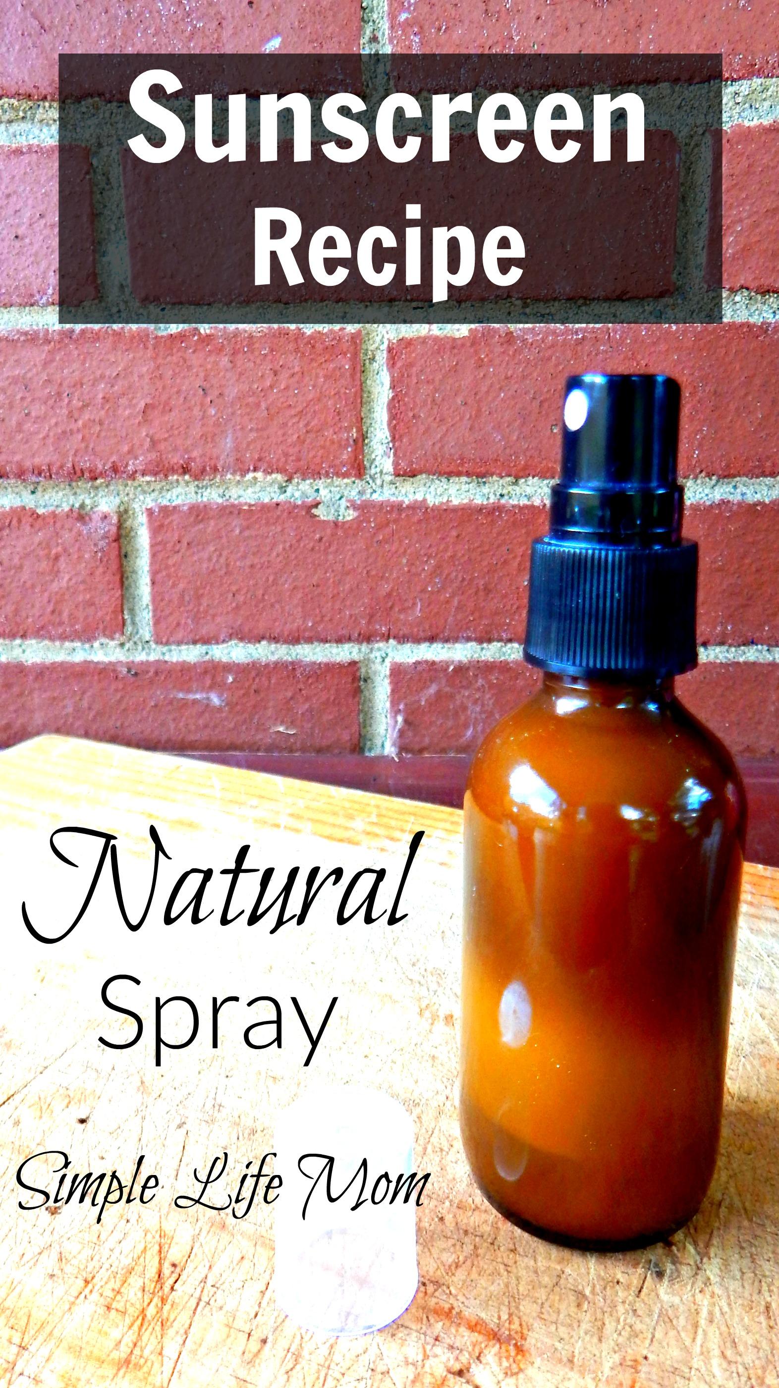 Homemade Spray Sunscreen Recipe with
