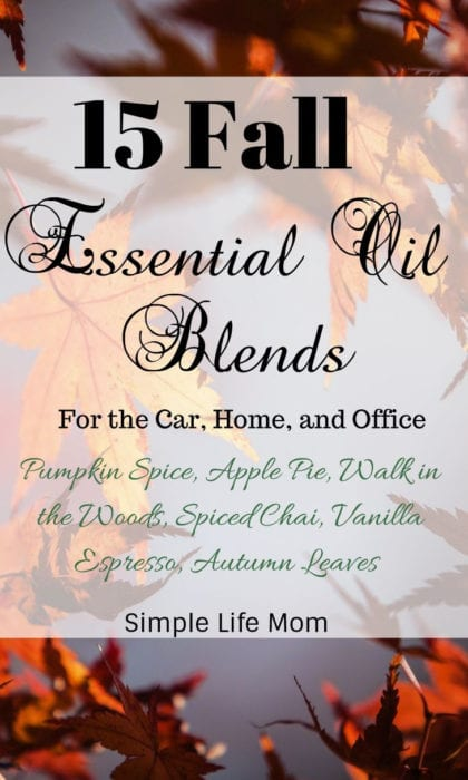15 Fall Essential Oil Diffuser Blends from Simple Life Mom