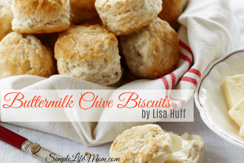 Buttermilk Chive Biscuits by Lisa Huff from Simple Life Mom