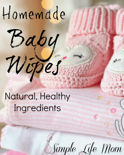 Homemade Baby Wipes from Simple Life Mom