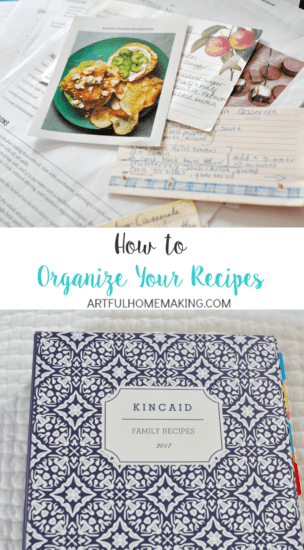 Homestead Blog Hop Feature - How-to-Organize-Recipes