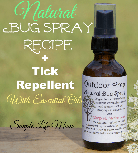 Natural Bug Spray and Tick Repellent Recipe from Simple Life Mom