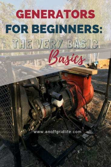 Homestead Blog Hop Feature - Generators for Beginners