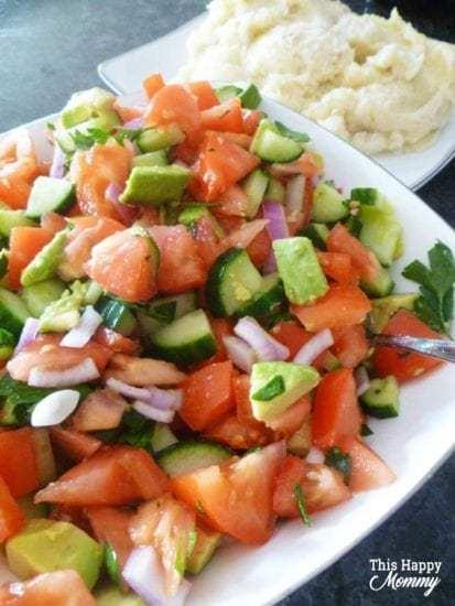 Homestead Blog Hop Feature - avocado-mediterranean-salad